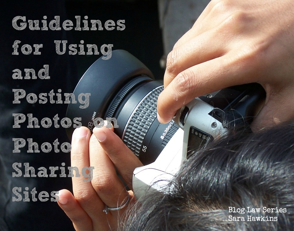 Guidelines for using and posting photos on photo sharing sites