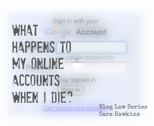 What happens to my online account when I die?
